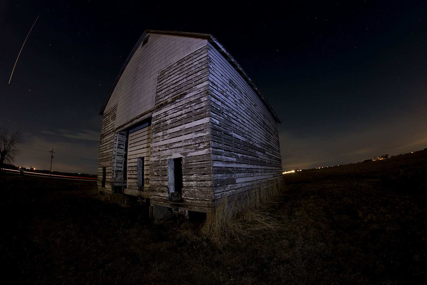 Corn crib fisheye