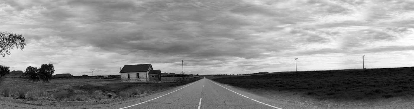 Nevada road panorama