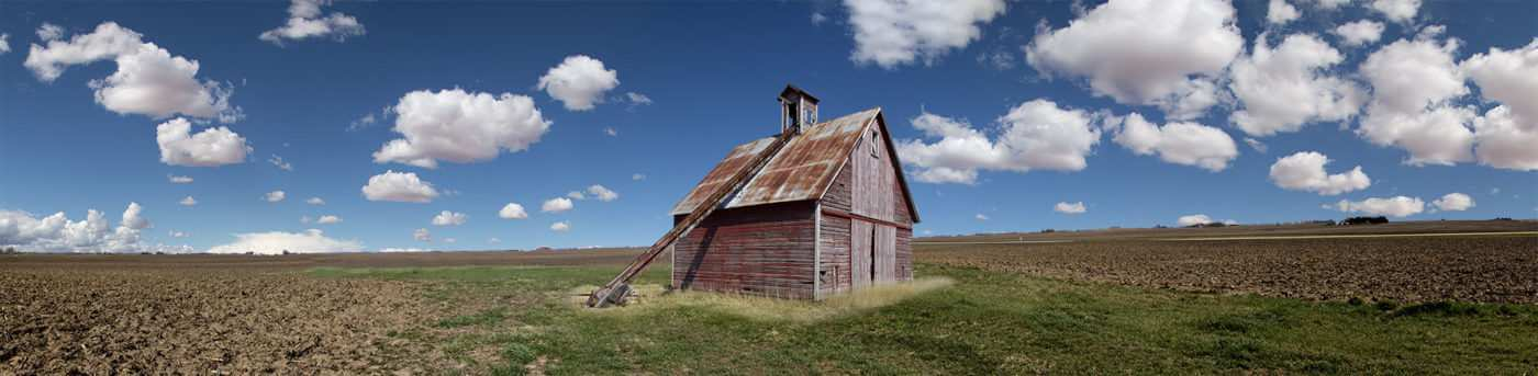 Red barn panorama