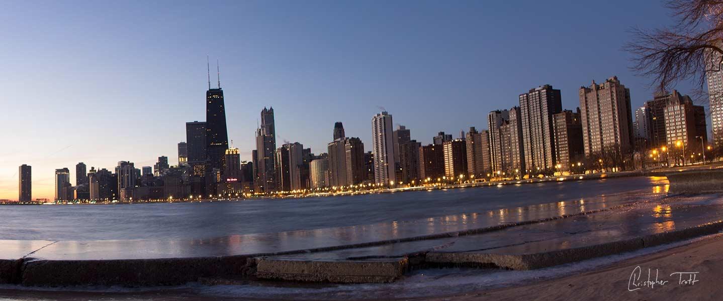 Frozen Chicago dawn